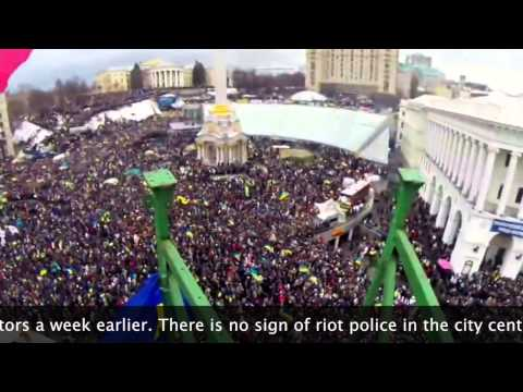 Ukraine - Half a million people filled the city center in Kiev, Ukraine to protest President Viktor F. Yanukovich's decision not to join the European Union. Subscribe ...