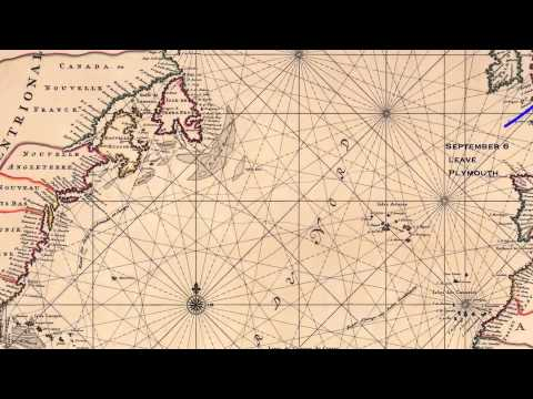 The Voyage of the Mayflower   1620 - TrekMap