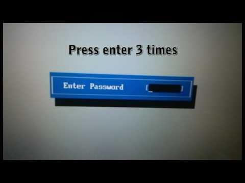 Comment réinitialiser mot de passe bios Toshiba. How to unlock Toshiba bios?