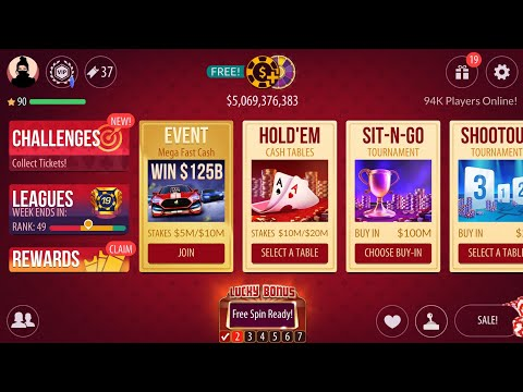 🔴LIVE! Playing ♠️ZYNGA POKER♣️ WALLET- $5B CHIPS! $5B to down $1B, and AGAIN MADE IT TO $5B :)