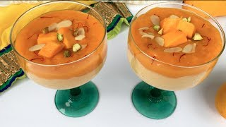 uncooked rice 1/4th cupwater half cupmango ripe 2milk 1 littersugar cardamon powder half tspnuts, saffron for decorationfor Firni, Jorda, Semai please go to this link below :https://www.youtube.com/watch?v=0ih5PdA6OeI&index=2&list=PLFzA4rVb9TIm5YibBMIyAeJqY7VSKAYB0&t=4sMY Facebook page: https://www.facebook.com/CookingStudioByUmme/
