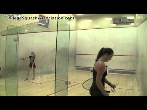 Women's College Squash: 2011 Howe Cup Finals – Harvard and Yale 1s – Game 3