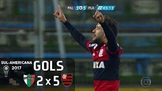 Gols - Palestino (CHI) 2 x 5 Flamengo - 1º Jogo 2ª Fase Sul-Americana 2017 - 05/07/2017Narração: Alex Escobar, Comentários: Juninho PernambucanoEstádio: San Carlos de Apoquindo