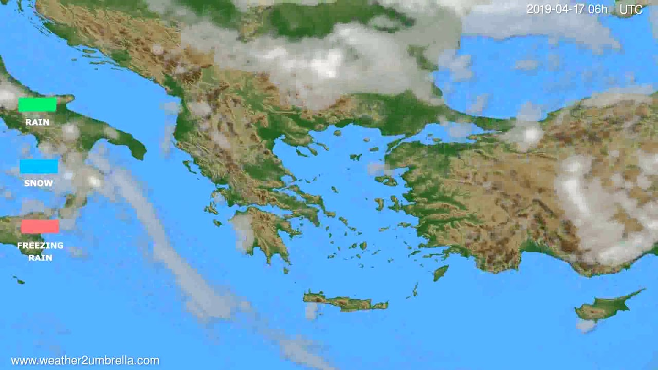 Precipitation forecast Greece // modelrun: 00h UTC 2019-04-15