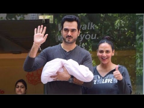 Esha Deol & Bharat Takhtani  Blessed With Sweet Baby Girl Discharge From Hospital