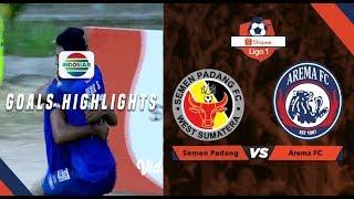Semen Padang (0) vs Arema Malang (1) - Goal Highlights | Shopee Liga 1
