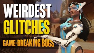 Some of the Weirdest Game-Breaking Glitches in Overwatch!Subscribe for more Overwatch content: http://bit.ly/2b9xsxuBest of Widowmaker: http://bit.ly/2bGv5Uw--------------------------------------------------------------------------------My Links:• YouTube: http://tinyurl.com/lpgfmqt• Twitter: http://tinyurl.com/ktfxz7y• Instagram: http://tinyurl.com/l2da3gp• Twitch: http://tinyurl.com/nu6d9ub--------------------------------------------------------------------------------(836798402)