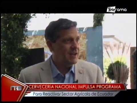 Cervecería Nacional impulsa programa para reactivar sector agrícola de Ecuador