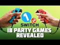 1 2 switch 18 Party Games Revealed nintendo Switch