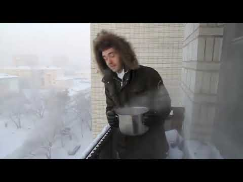 instant - What happens to boiling water by -41°C ? The Russian version of this video got incredibly popular. It was broadcasted on few prime TV channels. I gave two TV...