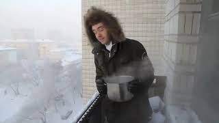 Boiling Water Freezes Instantly In Siberia :o