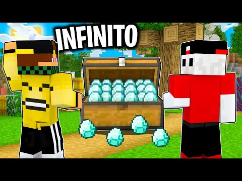 COSTRUISCO LA FARM DI DIAMANTE INFINITO nel MONDO BIG VANILLA Minecraft ITA