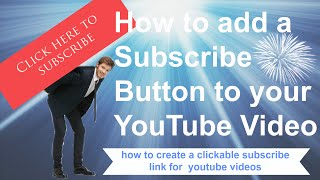 How To Add a Subscribe Button To Your YouTube Videos  How to Create a Clickable Subscribe Link is s how to tutorial video that will show you step by step how to add a clickable link button to your Youtube videos that will make it easier for viewers to subscribe to your Youtube channel. Find out the easy way to make a clickable subscribe button to your Youtube videos by using the anootation section of Youtube.https://youtu.be/jKZt5Ti-HBohttps://www.youtube.com/channel/UCFBxyLMer62Dr4cmdMeQP4A