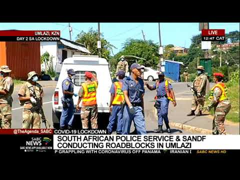 SA Lockdown Day 2 I SAPS and SANDF out in full force in KZN