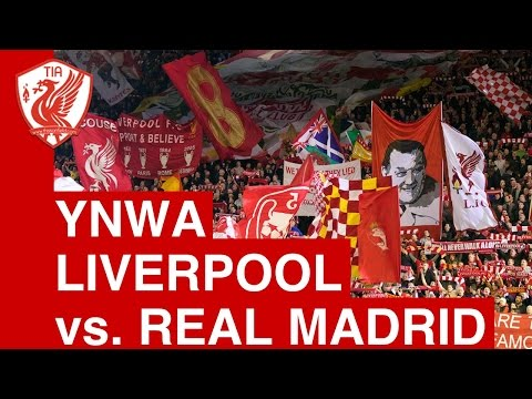 LL - Pre match rendition of You'll Never Walk Alone, Liverpool v Real Madrid, 22nd October 2014.
