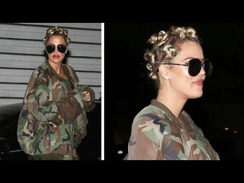 Khloe Kardashian Showing Off Crazy New Hairdo While Rocking Camo