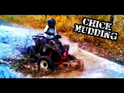 R3DLIN3S - ATV Quad Mudding Chick Driving Up River Polaris TrailBlazer 250cc 2 Stroke. Pole Haven R3DLIN3S redlines red lines This week She takes it up river then goes ...