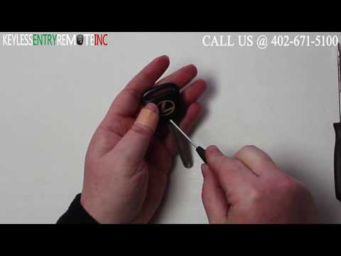 How To Replace Lexus SC Key Fob Battery 1994 1995