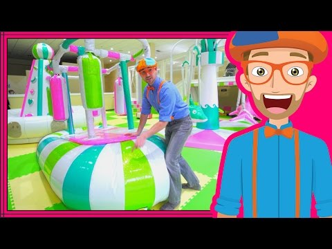 Learning Colors with Blippi at an Indoor Playground Play Place (видео)