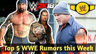 Top 5 WWE Rumors of the Week - January 22nd, 2018 - WrestlingNewsNow- WrestletalkTV
