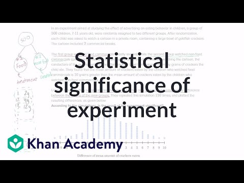 Statistical Significance Of Experiment Video Khan Academy