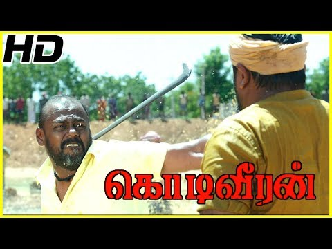 Sasikumar fights with Pasupathy | Kodiveeran Climax Scene | Poorna saves Sasikumar's life