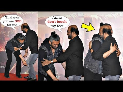 This Video Of Sunil Shetty Touching Rajinikanth's Feet At Darbar Trailer Launch Is Heart Melting