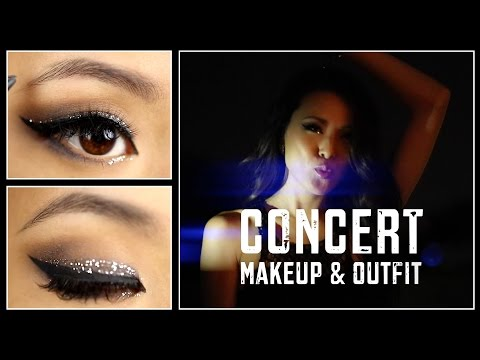 concert - Here's a glittery going out makeup tutorial & outfit that are perfect for checking out a concert or out dancing to your favorite DJ. Let's hear it for sparkly eyes and awesome music! #ProjectWareh...
