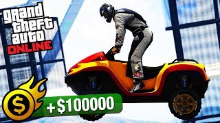 Grand Theft Auto Online - Premium Race Guide / Walkthrough Video in Full HDSorry for the kid laughing & speaking at the beginning of the race.All Premium Races Playlist:https://www.youtube.com/playlist?list=PLQ3KzJPBsAHkpUXskDb2n7o7QCmRjDx7j===================================Premium Race: Into The DamVehicle used: Nagasaki Blazer Aqua (all upgrades maxed out)Entry fee: $20,0001st place: $100,0002nd place: $30,0003rd place: $20,000A little-known alternative to the traditional night-time bombing raid is hurling 16 fully disposable morons out of the sky on amphibious quad bikes in the middle of the day and hoping for the best. Strap in, it's time to serve.Premium Lap Race for the Blazer Aqua.===================================Video recorded on: PS4=================================== GTA Series Videos is a dedicated fan-channel keeping you up to date with all the latest news, video walkthroughs and official trailers of the most successful video games published by Rockstar Games, including Grand Theft Auto series, Red Dead Redemption, Max Payne, L.A. Noire, Bully and many others.This channel is in no way tied to Rockstar Games or Take-Two Interactive.Follow GTA Series Videos on: YouTube - http://www.youtube.com/GTASeriesVideos Google+ - http://www.google.com/+GTASeriesVideos Facebook - http://www.facebook.com/GTASeriesNews Twitter - http://www.twitter.com/GTASeriesFor more info and videos visit:http://www.GTASeriesVideos.com  http://www.GTA-Series.com  http://www.GTA-Downloads.com  http://www.Games-Series.com