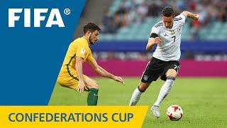 Watch highlights of the match between Australia and Germany from the FIFA Confederations Cup 2017 in Russia.
