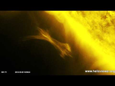 NASA spotted Gigantic Sphere near Sun while reflecting Solar Eruption -- May 25, 2012.mp4