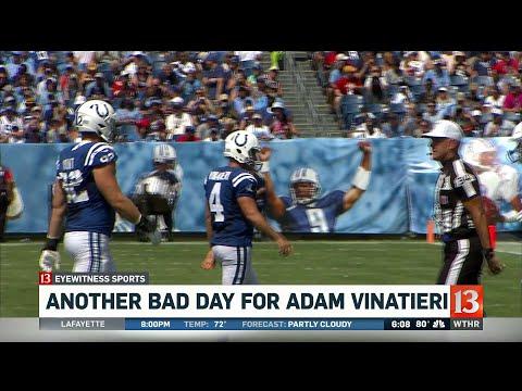 Another bad day for Adam Vinatieri
