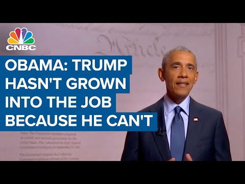 Barack Obama: President Donald Trump hasn't grown into the job because he can't