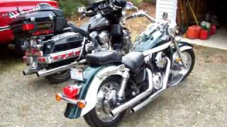 7. 2004 Kawasaki Vulcan 1500 Classic with Cobra Dragsters