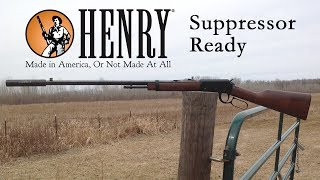 Check out the full review for the Henry Frontier Suppressor Ready rifle in .22LR on Guns.com - http://www.guns.com/review/gun-review-henry-frontier-suppressor-ready-rifle-in-22lr-video/