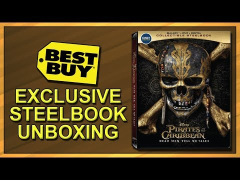 Pirates Of The Caribbean: Dead Men Tell No Tales Best Buy Exclusive SteelBook Unboxing