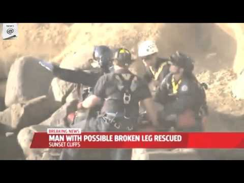 Man rescued after falling from California's Sunset Cliffs