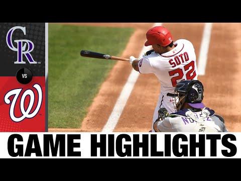 Rockies vs. Nationals Game Highlights (9/19/21)   MLB Highlights