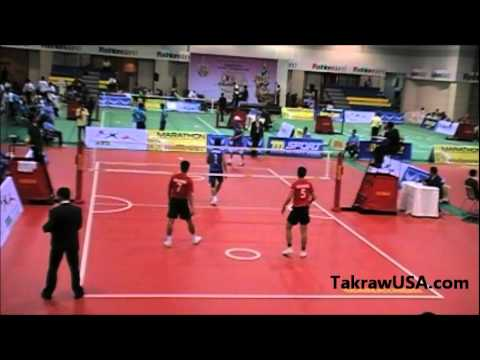 USA vs Philippine : Men's Double at 26th King's Cup Sepak Takraw World Championship 2011