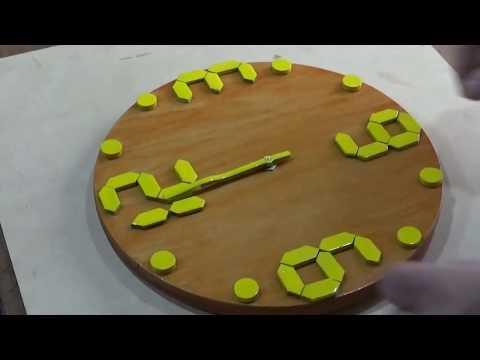 ¿Cómo hacer un reloj de madera?