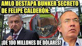 AMLO ¡DESTAPA BUNKER SECRETO DE FELIPE CALDERÓN EN LOS PINOS!