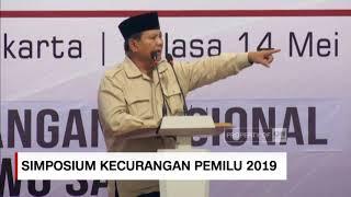 Video Prabowo: Saya Menolak Penghitungan Pemilihan yang Curang ; Simposium Nasional Kecurangan Pemilu 2019 MP3, 3GP, MP4, WEBM, AVI, FLV Mei 2019
