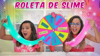 DESAFIO DA ROLETA MISTERIOSA DE SLIME! (Mystery Wheel Of Slime Challenge) - JULIANA BALTAR