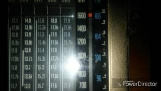 DX en X-Band ( Medium Wave ), Recibida en el Sur de Lima - Perú. con Kenwood R-11y Antena RGP-3 Radio Caribbean...