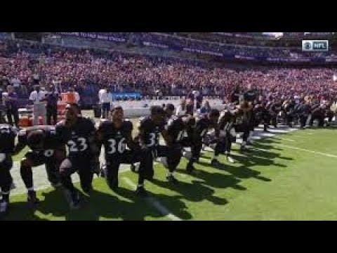 RAVENS KNEEL BEFORE ANTHEM TO PRAY AND STILL GOT BOOED! (THE RAY LEWIS EFFECT) 😂😂