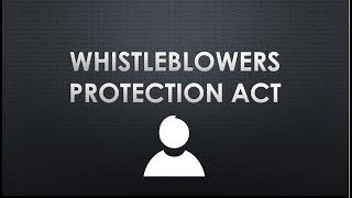 Nonton Whistle Blowers Protection Act  2014 And Amendment Act 2015   Issuer  Prelims And  Interview  Film Subtitle Indonesia Streaming Movie Download