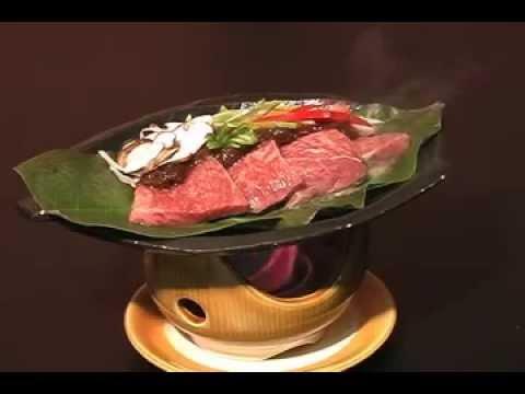 飛騨牛の朴葉味噌ステーキ ~旅館 二人静白雲