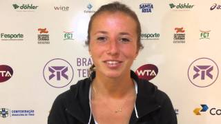 Annika Beck é vice-campeã do Brasil Tennis Cup 2015