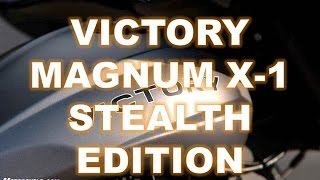2. 2016 Victory Magnum X-1 Stealth Edition, Audacious sound, subtler visuals