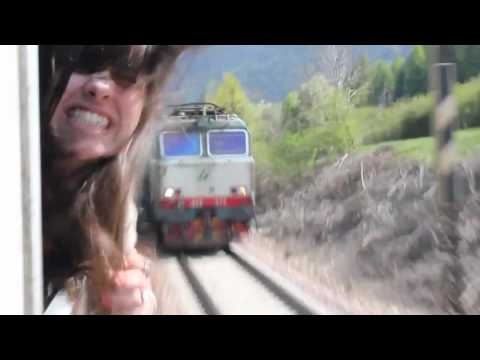 Girl almost beheaded by train
